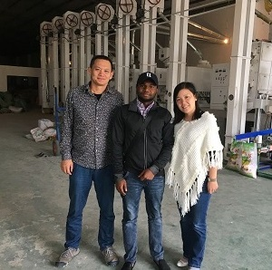 Nigeria Client Visited Us for Rice Mill (1)a