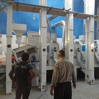 A line of rice mill machinery installed in North of Iran