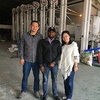Nigeria Client Visited Us for Rice Mill